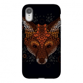 iPhone Xr  Fox Face by Q-Artwork (fox,animal,nature,leaves,leaf,pattern,vector,geometric)