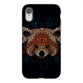 iPhone Xr  Red Panda Face by Q-Artwork (red panda,nature,panda,cute,vector,pattern,leaves,leaf,geometric)