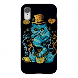 iPhone Xr  Wonderland Impressions by Q-Artwork (alice in wonderland,cheshire cat,literature,lewis carrol,classic,tea,cat,animal,art,impressionism,painting,mad hatter)