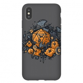 iPhone Xs Max  RPG United by Q-Artwork (rpg,dnd,dungeons and dragons,dices,critical hit,adventure,role play,weapons,medieval,middle age,game,gamer,d20)