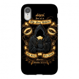 iPhone Xr  The Nine Tavern by Q-Artwork (lord of rings,fellowship of the ring,movie,nazgul,the nine,ghost,king,fantasy)