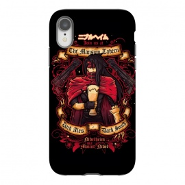 iPhone Xr  The Mansion Tavern by Q-Artwork (final fantasy,gaming,gamer,videogame,pub,drink,flyer,vincent valentine,gun,beer,ff7)