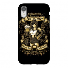 iPhone Xr  7th Heaven by Q-Artwork (ff7,final fantasy,video game,gamer,videogame,rpg,tifa lockhart,girl,avalanche,pub,beer,drink,flyer)