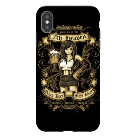iPhone Xs Max  7th Heaven by Q-Artwork (ff7,final fantasy,video game,gamer,videogame,rpg,tifa lockhart,girl,avalanche,pub,beer,drink,flyer)