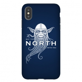 iPhone Xs Max  NORTH by RAIDHO (star wars,yoda,vikings,may the force be with you,parody,knotwork)