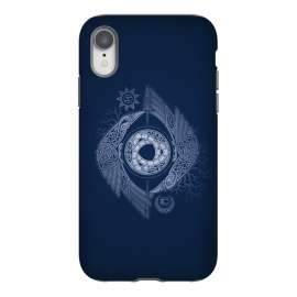 iPhone Xr  ODIN'S EYE by RAIDHO (ODIN,odin's eye,vikings,spear,ravens,hugin and munin,knotwork,nordic mythology,sun and moon,runes,futhark,night,mystery)