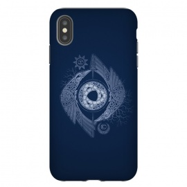 iPhone Xs Max  ODIN'S EYE by RAIDHO (ODIN,odin's eye,vikings,spear,ravens,hugin and munin,knotwork,nordic mythology,sun and moon,runes,futhark,night,mystery)
