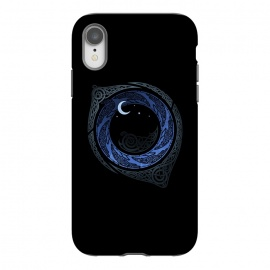 iPhone Xr  MOONLIGHT ROUNDELAY ( Raven's Eye ) by RAIDHO (RAVENS,raven's eye,knotwork,moon,moonlight,stars,night,mystery)