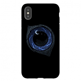 iPhone Xs Max  MOONLIGHT ROUNDELAY ( Raven's Eye ) by RAIDHO (RAVENS,raven's eye,knotwork,moon,moonlight,stars,night,mystery)