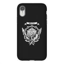 iPhone Xr  Warrior Crest by Q-Artwork (dnd,dungeons and dragons,crest,warrior,weapons,sword,blade,rpg,role play,gamer,gaming,adventure)