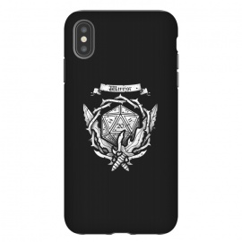 iPhone Xs Max  Warrior Crest by Q-Artwork (dnd,dungeons and dragons,crest,warrior,weapons,sword,blade,rpg,role play,gamer,gaming,adventure)