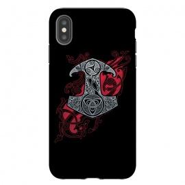 iPhone Xs Max  RAVEN'S MJOLNIR by  (mjolnir,vikings,thor's hummer,knotwork,ravens,dragons,triskele)