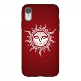 iPhone Xr  MIDWINTER SUN by RAIDHO (SUN,SUN-FACE,WHITE EYES,YULE,RAVENS,NORDIC MYTHOLOGY,SUN SIGN,KNOTWORK)
