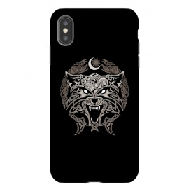 iPhone Xs Max  RAGNAROK WOLVES by RAIDHO (wolf,ragnarok,fenrir,sun and moon,nordic mythology,vikings,knotwork)
