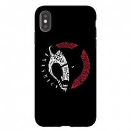 iPhone Xs Max  BERSERKR by RAIDHO (BERSERKR,BEAR,VIKINGS,NORDIC,KNOTWORK,RUNES)