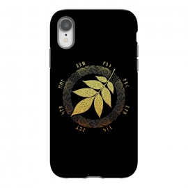 iPhone Xr  ASGARD. FALL. by RAIDHO (ASGARD,YGGDRASSIL,ASH LEAF,VIKINGS,NORDIC MYTHOLOGY,KNOTWORK,FUTHARK,RUNES)