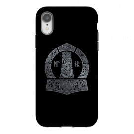iPhone Xr  MJOLNIR by RAIDHO (mjolnir,thor,thor's hummer,vikings,nordic mythology,knotwork,runes,dragons,triquerta)