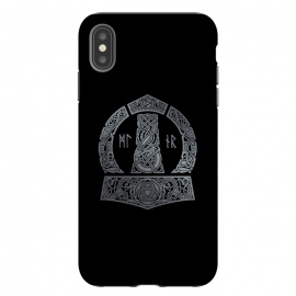 iPhone Xs Max  MJOLNIR by RAIDHO (mjolnir,thor,thor's hummer,vikings,nordic mythology,knotwork,runes,dragons,triquerta)