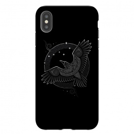 iPhone Xs Max  NORTHERN RAVEN ( Path to the North ) by RAIDHO (raven,north,stars,ursa major,night,knotwork)