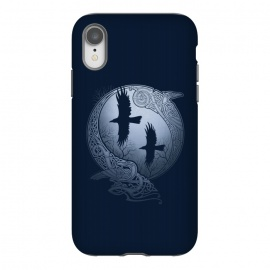 iPhone Xr  ODIN'S RAVENS by RAIDHO (ODIN,ODIN'S RAVENS,HUGIN AND MUNIN,MOON,NORDIC MYTHOLOGY,VIKINGS,KNOTWORK,RAVENS)
