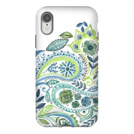 iPhone Xr  Watercolour Paisley by Laura Grant (Paisley,Painted,watercolour,pretty)