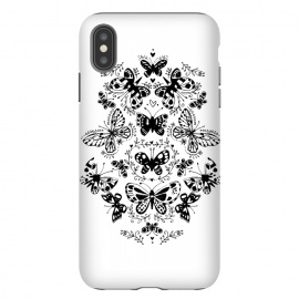 Ink butterfly by Laura Grant (butterfly,floral,pattern,pretty,black and white)