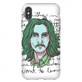 iPhone Xs Max  HARRISON by Ilustrata (beatles , the-beatles , thebeatles , john-lennon , paul-mccartney , ringo-starr , george-harrison , john-paul-george-and-ringo , imagine , fab-four , lennon , harrison , abbey-road , starr)