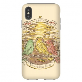 iPhone Xs Max  Three Little Birds by Ilustrata (bob-marley , jamaica , marley , reggae-music , reggae-colors , snoop-dog , reggae-flag , cool-reggae , marijuana-leaves)