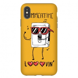 iPhone Xs Max  Summertime lovin by Ilustrata (regular-show , rigby , mordecai , benson , a-regular-show , regular , mordecai-and-the-rigby , muscle-man , summer , summertime , lovin)