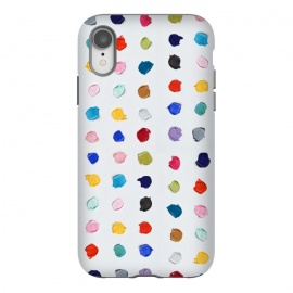iPhone Xr  Polka Daubs by Ann Marie Coolick (polkadots,polka dots,circles,colorful,pop art,multicolor,confetti)