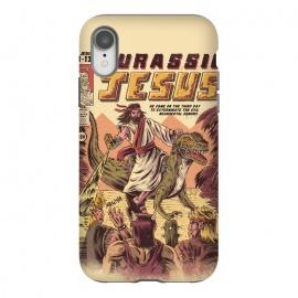iPhone Xr  JURASSIC JESUS by  (jesus , funny , dinosaur , retro , t-rex , jurassic , prehistoric , wtf , hilarious)