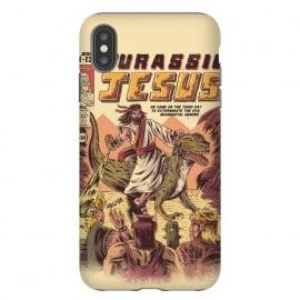 iPhone Xs Max  JURASSIC JESUS by  (jesus , funny , dinosaur , retro , t-rex , jurassic , prehistoric , wtf , hilarious)