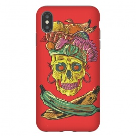 iPhone Xs Max  Carmen Death by Ilustrata (music , musical , rock , pop , song , culture , carmen-miranda , skull , death , skeleton , skulls , dead , halloween , dark)