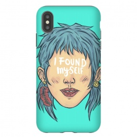 iPhone Xs Max  I found myself by Ilustrata (lettering , words , phrase , message , hyde , coolest , word , typo , blue , found , myself , handlettering)