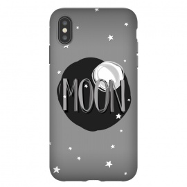 Bright Moon & Stars by Dellán (moon,full moon,typographyc,text,stars,space,ufo,planets,astrology,milky way,black and white,sun,night,dark,darkness,astronaut,trendy,nerd,geek,hipster)