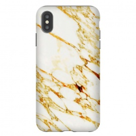 iPhone Xs Max  Gold Marble by Uma Prabhakar Gokhale (graphic design, other, pattern, abstract, marble, gold, metallic, shine, exotic, nature)