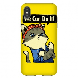 We Can Do It! Purrrsist! by Vó Maria (cats,cat,vintage,poster,propaganda,war,world,animal,cute,feminist,feminism,girl,power)