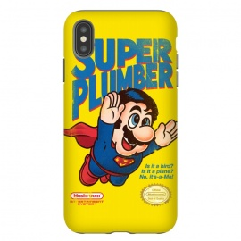 Super Plumber by Vó Maria (super mario,video game,video,game,games,superman,hero,super hero,comics,nintendo,tv,television,pop culture)