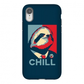iPhone Xr  Sloth For President by Grant Stephen Shepley (political,funny,parody,humour,joke,vector,obama,trump,sloth,animals,animal,politics,usa,america,president)
