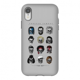 iPhone Xr  Forever Famous by Grant Stephen Shepley (skeleton,parody,pop culture,famous,celebrity,history,sketch,music,film,movies)
