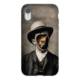 iPhone Xr  Gentleman Fox by 38 Sunsets (fox,drawing,photoreal,hat,man,surreal,fashion,texture,photo,human,portrait,wild,mystery,orange,sepia,chic,shy,ghost,spirit,character, nature, trait, feature, temper, type,figure,persona)