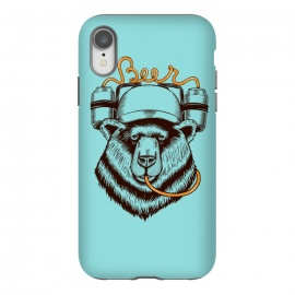 iPhone Xr  BEAR LOVE BEER by  (bear, beer,funny,nature,wild,humor,vintage,drink,birra,bar,happy)