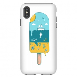iPhone Xs Max  Melted Landscape by Coffee Man (ice cream,beach,sea,summer,vacation,spring bread,melted,animal,shark,sand,sun,boat,hot)