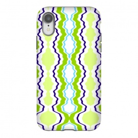 iPhone Xr  anthropology by Bettie * Blue (modern, geometric,green,blue,abstract,boho)