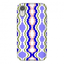 iPhone Xr  Travels by Bettie * Blue (exotic,Indian,moroccan,geometric,abstract,pattern,bright colors,fun)