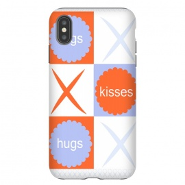 X's & O's -Orange/Lavender by Bettie * Blue (kiss, hug,x & o,tic tac toe,purple,orange,graphic,typograpy,love)