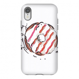 iPhone Xr  Donut Love 2 by MUKTA LATA BARUA (donuts,sweet,dessert,summer,food,graphic,illustration,art)