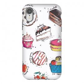iPhone Xr  Dessert Love by  (cake,pastry,sweet,dessert,food,illustration,art,graphic,print)