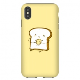 iPhone Xs Max  Bread & Butter by Xylo Riescent (Robo Rat,food with faces,funny,hug,bread,butter,love,embrace,yellow,kids,cool,awesome)
