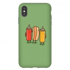 iPhone Xs Max  Best Friends by Xylo Riescent (Robo Rat,condiments,hotdog,sandwich,mustard,friends,funny,catsup,cool,awesome,green)
